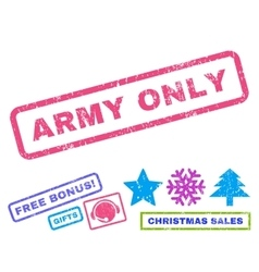 Army Only Rubber Stamp vector