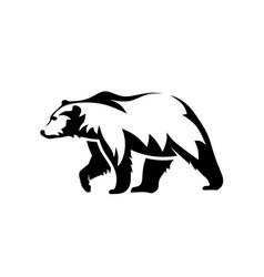 Bear silhouette logo vector