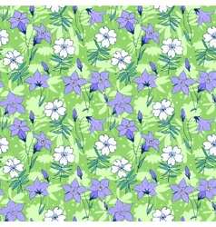 Beautiful wild bluebell flowers seamless pattern 1 vector image
