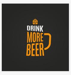 beer mug logo vintage glass beer lettering vector image