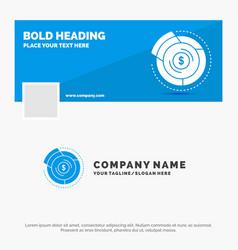 Blue business logo template for balance budget vector