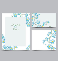 blue forget me not flowers vector image