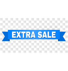 blue stripe with extra sale caption vector image