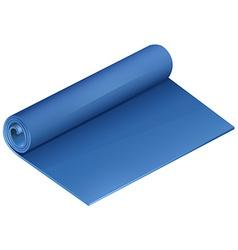 Blue yoga mat on white vector