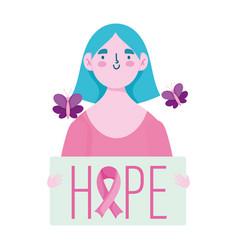 breast cancer awareness month woman butterflies vector image