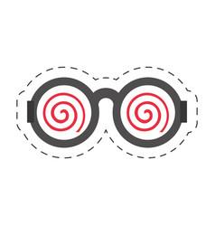 Cartoon funny eyeglasses april fools vector