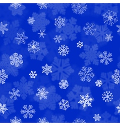 Christmas seamless pattern with snowflakes vector image