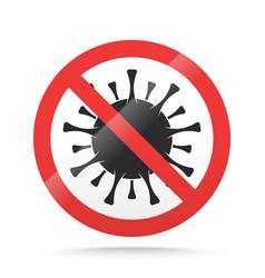 covid19-19 ban sign stop novel coronavirus vector image