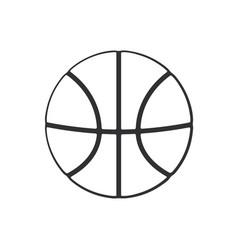 Doodle basketball ball vector