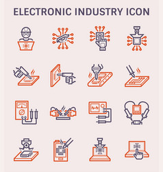 Electronics industry icon vector