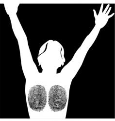finger print woman vector image