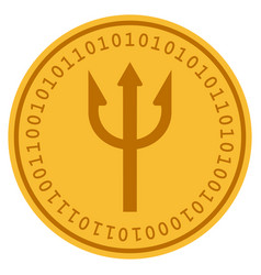 Fork digital coin vector