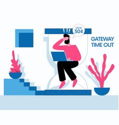 Gateway timeout concept vector