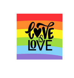 Gay lettering conceptual poster with lgbt rainbow vector