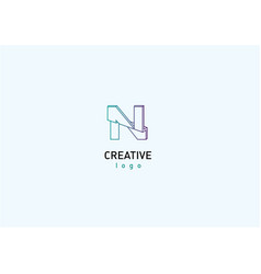 Geometric 3d logotype with a break vector