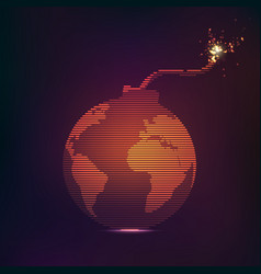 Globe bomb vector