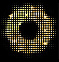 gold disco lights background golden shiny vector image