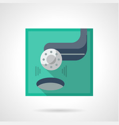Golf tournament flat color icon vector