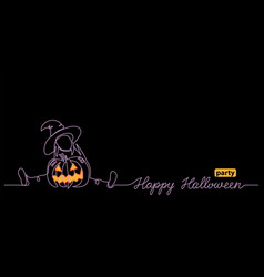 halloween black night web banner for party notice vector image