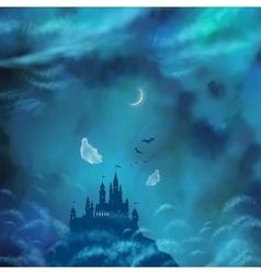 Halloween nightly background vector