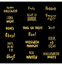 Halloween quotes at black vector