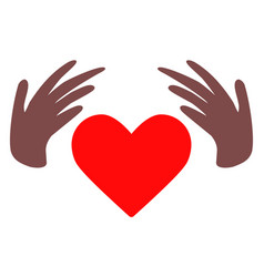 handmade love flat icon symbol vector image