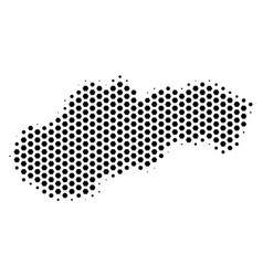 Hexagon slovakia map vector