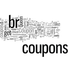 How to be a coupon queen vector