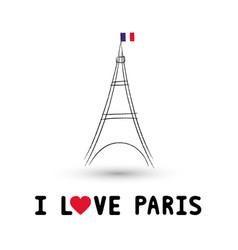 I love paris2 vector