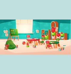 interior room in montessori kindergarten vector image