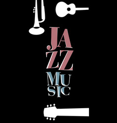 jazz poster-05 vector image