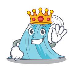 King splash surf wave cartoon vector