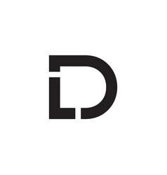 L d d initial letter logo design vector