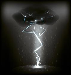 Lightning and rain vector