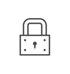 lock line icon vector image