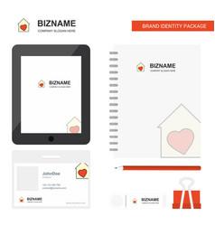 love house business logo tab app diary pvc vector image