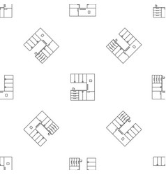 modern kitchen pattern seamless vector image