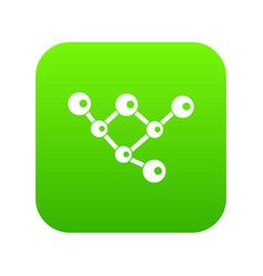 molecule structure icon digital green vector image