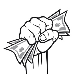 money in the hand vector image