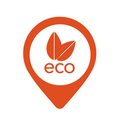 nature eco orange pointer icon in eps 10 vector image