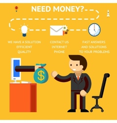 Need money concept vector image