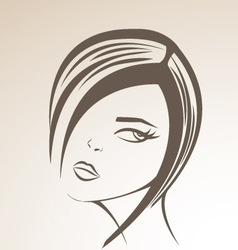 Nice girl vector image