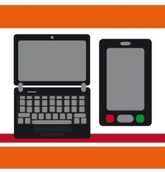 Notebook Moblilny phone vector image