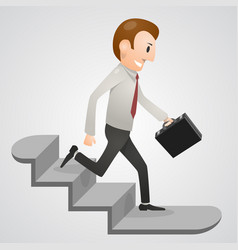 office man running downstairs vector image