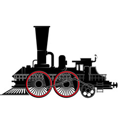 old steam locomotive vector image