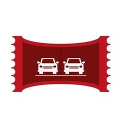 Parking car ticket vector
