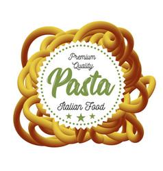 Pasta traditional dish of italian cuisine vector