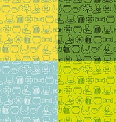 Patricks Day seamless pattern Set of backgrounds vector image