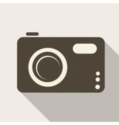 Photo camera web icon vector