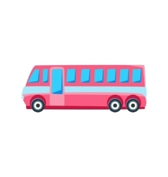 Pink Public Bus Toy Cute Car Icon vector